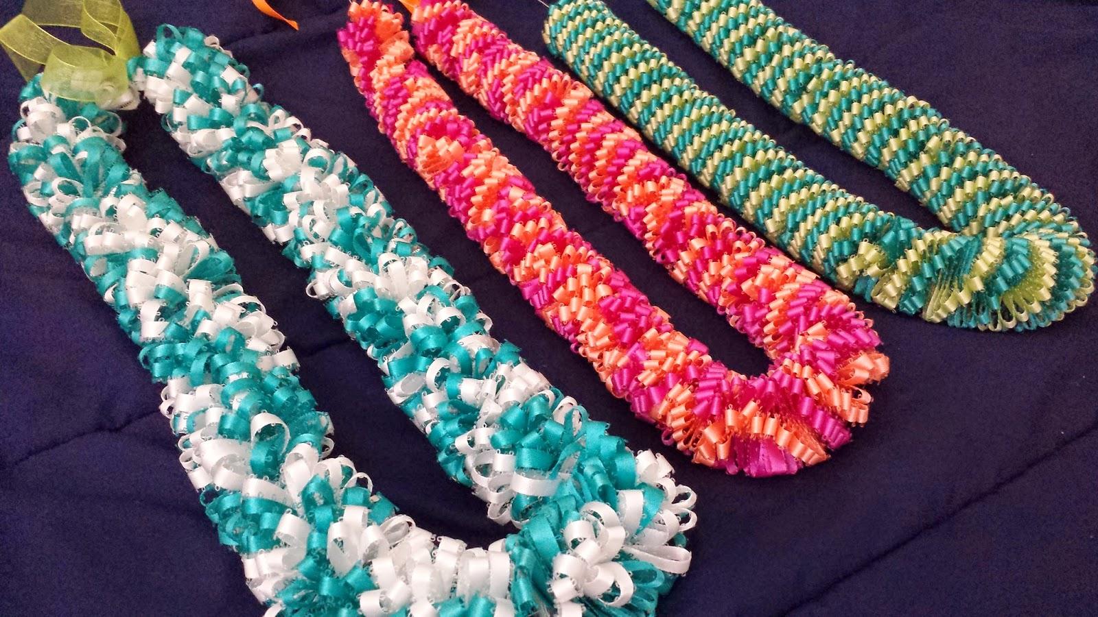 DIY Grad Ribbon Leis